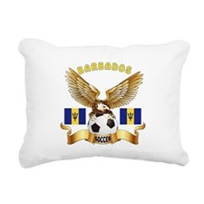 Barbados Football Design Rectangular Canvas Pillow