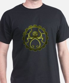 Steampunk octo-gear shirt (green)