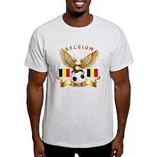 Belgium Football Design T-Shirt