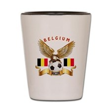Belgium Football Design Shot Glass