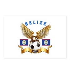 Belize Football Design Postcards (Package of 8)