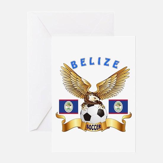 Belize Football Design Greeting Card