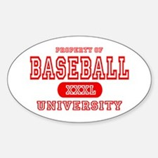 Baseball University Oval Decal