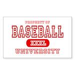 Baseball University Rectangle Sticker