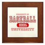 Baseball University Framed Tile