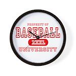 Baseball University Wall Clock