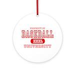 Baseball University Ornament (Round)