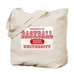 Baseball University Tote Bag