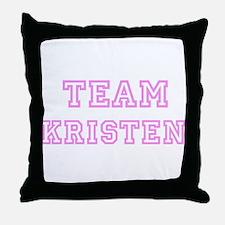 Pink team Kristen Throw Pillow