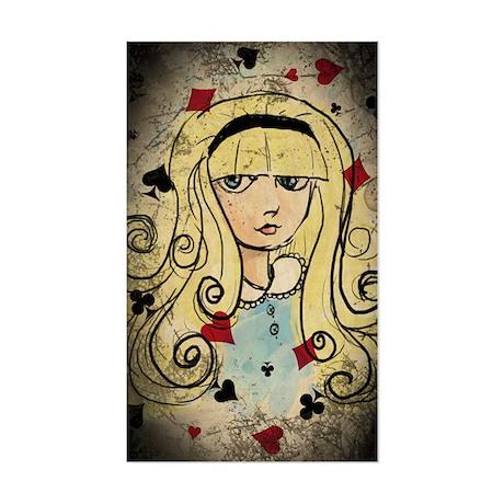 Watercolor Alice Dark Sticker (Rectangle)