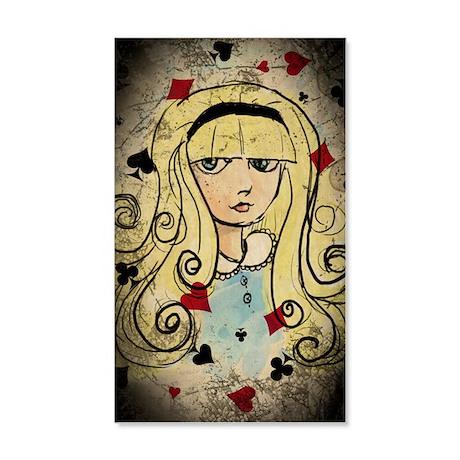 Watercolor Alice Dark 20x12 Wall Decal