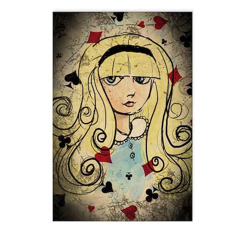 Watercolor Alice Dark Postcards (Package of 8)