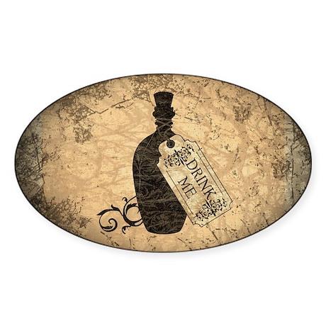 Drink Me Bottle Worn Sticker (Oval)