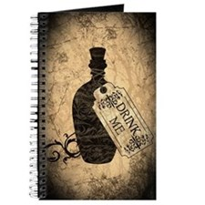 Drink Me Bottle Worn Journal