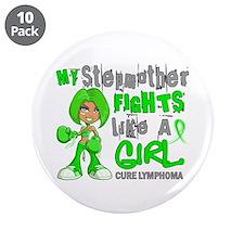 "Fights Like a Girl 42.9 Lymphoma 3.5"" Button (10 p"