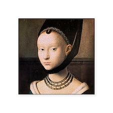 Petrus Christus Young Woman Portrait Square Sticke