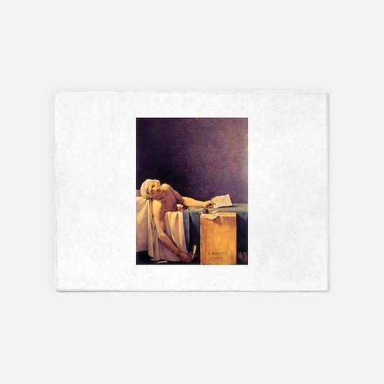 Jacques-Louis David Death Of Marat 5'x7'Area Rug