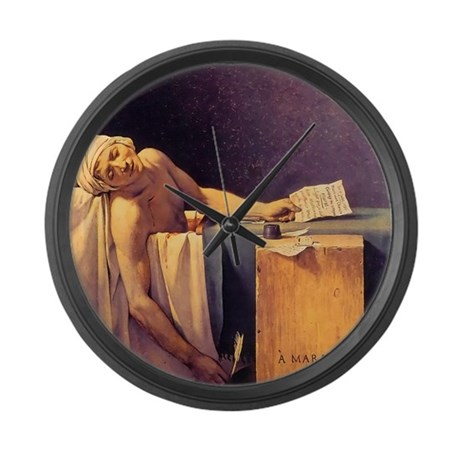 Jacques-Louis David Death Of Marat Large Wall Cloc