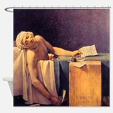 Jacques-Louis David Death Of Marat Shower Curtain