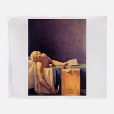 Jacques-Louis David Death Of Marat Throw Blanket