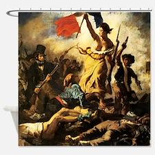 Eugene Delacroix Liberty Shower Curtain