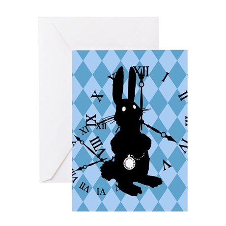 Rabbit Late Greeting Card
