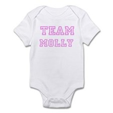 Pink team Molly Infant Bodysuit