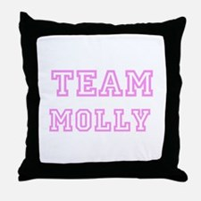 Pink team Molly Throw Pillow