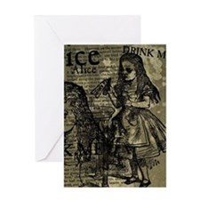Alice Drink Me Collage Greeting Card