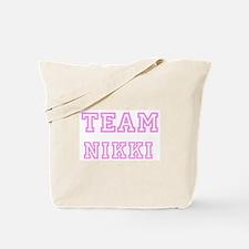 Pink team Nikki Tote Bag