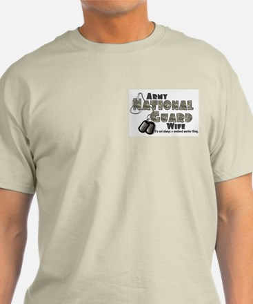 National Guard Wife - Digital Ash Grey T-Shirt