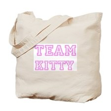 Pink team Kitty Tote Bag