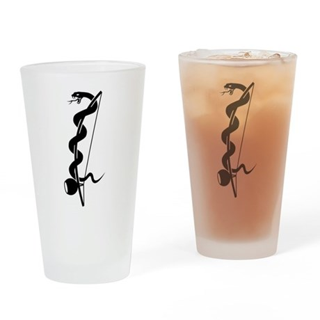 Capoeira berimbau snake Drinking Glass