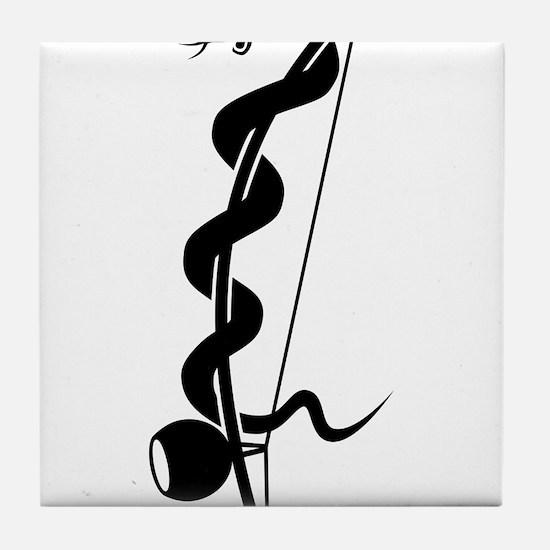Capoeira berimbau snake Tile Coaster