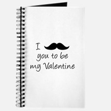 I Mustache You To Be My Valentine Journal