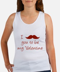 I Mustache You To Be My Valentine Women's Tank Top