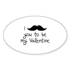 I Mustache You To Be My Valentine Decal