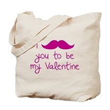 I Mustache You To Be My Valentine Tote Bag
