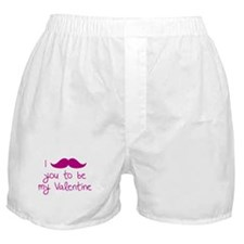 I Mustache You To Be My Valentine Boxer Shorts