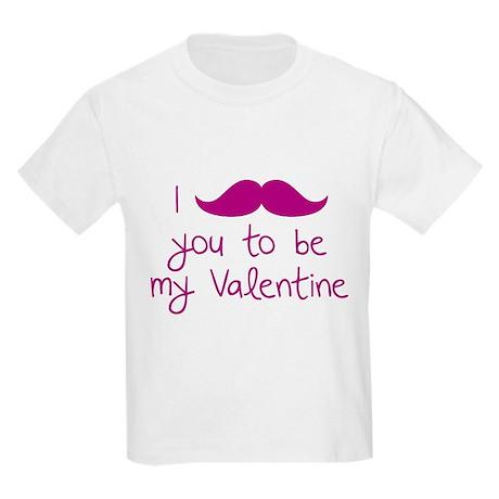 I Mustache You To Be My Valentine Kids Light T-Shi