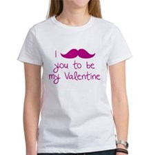 I Mustache You To Be My Valentine Tee
