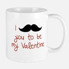 I Mustache You To Be My Valentine Mug