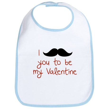 I Mustache You To Be My Valentine Bib