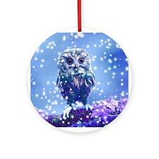 Snow Owl Ornament (Round)