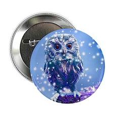"Snow Owl 2.25"" Button"