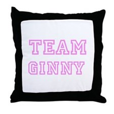 Pink team Ginny Throw Pillow