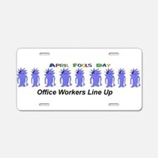 April Fools Day Office Aluminum License Plate