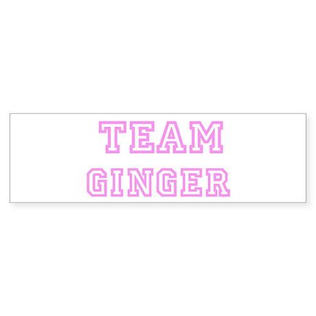 Pink team Ginger Bumper Sticker