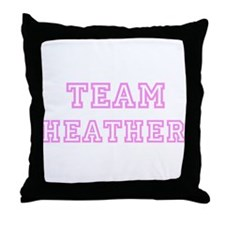 Pink team Heather Throw Pillow