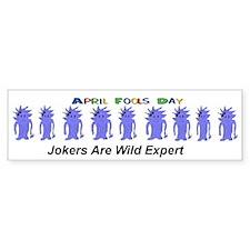 April Fools Day Jokers Bumper Bumper Sticker